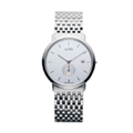 Stainless Steel Strap & Case White Face with Date