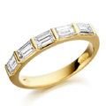 18ct Yellow Gold & Baguette Cut Diamond Ring