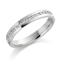 18ct White Gold & Brilliant Cut Diamond (0,20ct Total) Ring