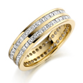 18ct Yellow Gold & Princess Cut Diamond Ring