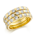 18ct Yellow Gold & Brilliant Cut Diamond Ring