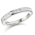 18ct White Gold & Princess Cut Diamond Ring