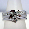 18ct White Gold Shaped Ring Pave set with Diamonds