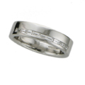 Platinum Wedding Ring set with Baguette Diamonds
