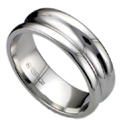 Palladium Gents Wedding Ring Concave Profile