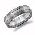 Platinum and White Gold Gents Wedding Ring